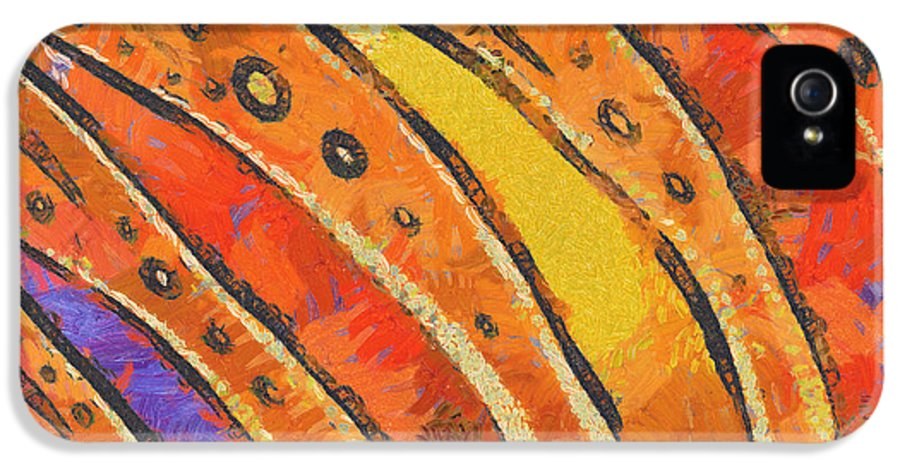 Rainbow IPhone 5 Case featuring the painting Abstract Rainbow Tiger Stripes by Pixel Chimp