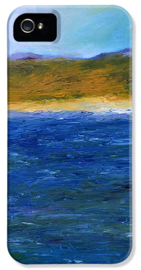 Lake IPhone 5 / 5s Case featuring the painting Abstract Shoreline by Michelle Calkins