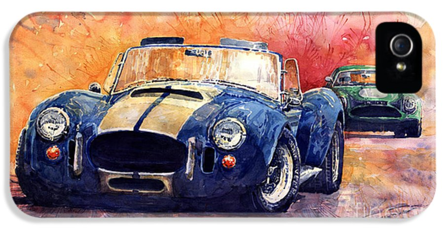 Ac Cobra IPhone 5 Case featuring the painting Ac Cobra Shelby 427 by Yuriy Shevchuk
