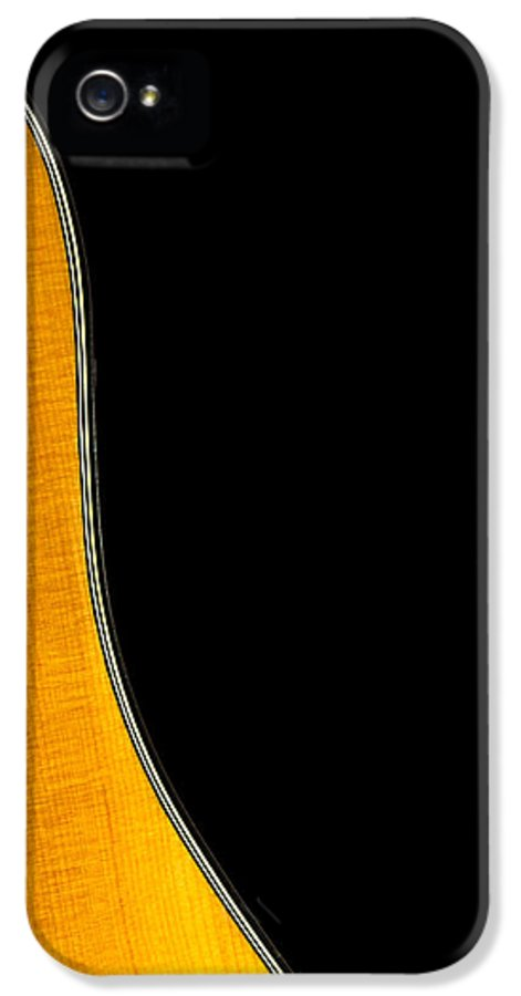 Guitar IPhone 5 Case featuring the photograph Acoustic Curve In Black by Bob Orsillo