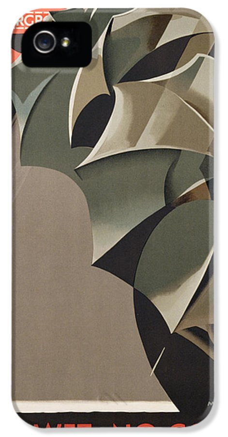 Advert IPhone 5 Case featuring the painting Advertisement For The London Underground by Manner