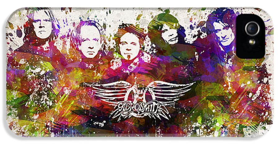 Aerosmith IPhone 5 Case featuring the drawing Aerosmith In Color by Aged Pixel