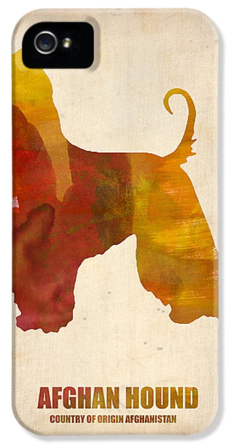 Afghan Hound IPhone 5 Case featuring the painting Afghan Hound Poster by Naxart Studio