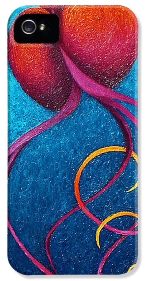 Contemporary IPhone 5 Case featuring the painting After Glow by Karen Balon