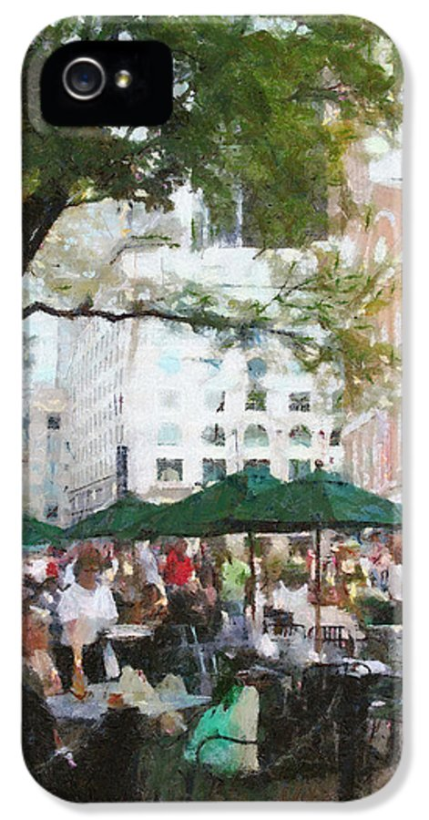 Afternoon IPhone 5 Case featuring the painting Afternoon At Faneuil Hall by Jeffrey Kolker