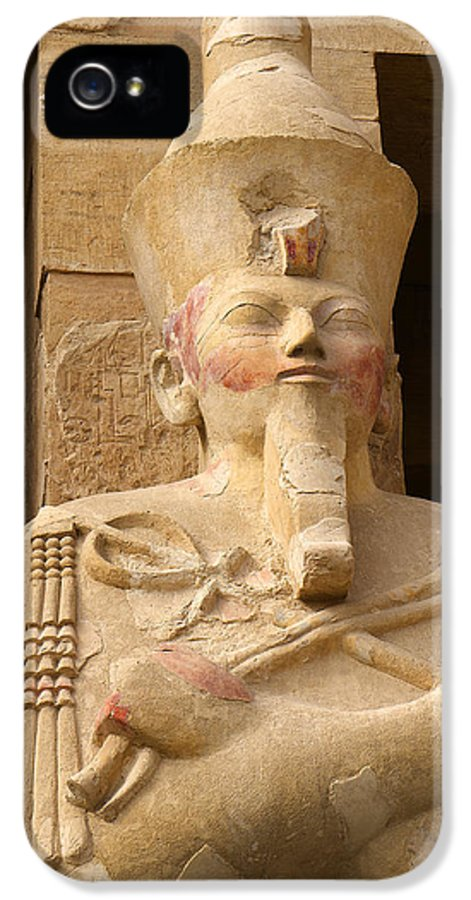 Hatshepsut IPhone 5 Case featuring the photograph Ageless Egyptian Queen by Brenda Kean