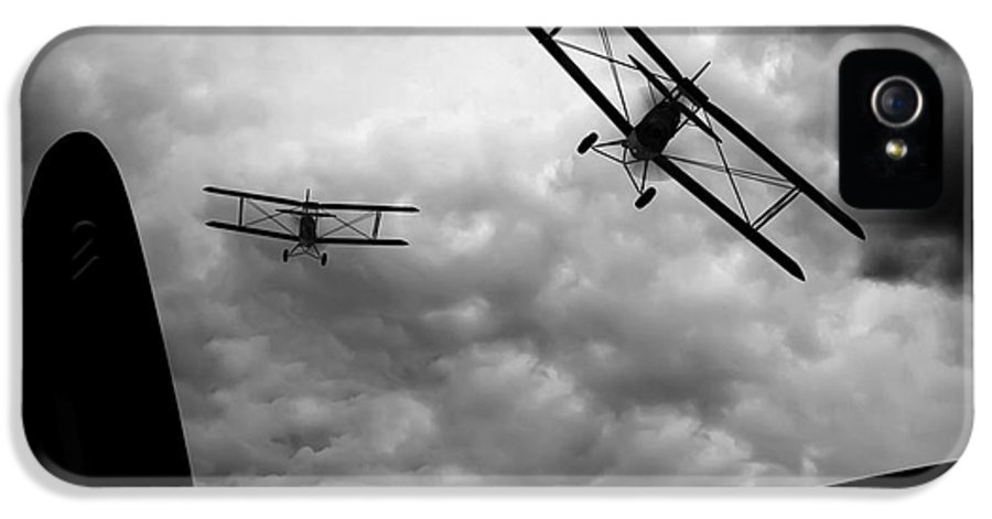 Airplane IPhone 5 Case featuring the photograph Air Pursuit by Bob Orsillo