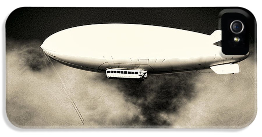 Blimp IPhone 5 Case featuring the photograph Airship by Olivier Le Queinec