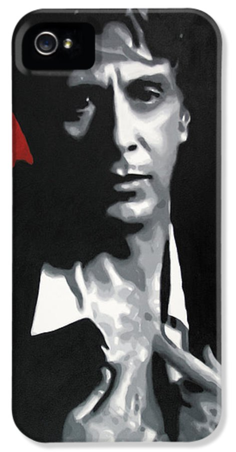 Ludzska IPhone 5 / 5s Case featuring the painting Al Pacino by Luis Ludzska