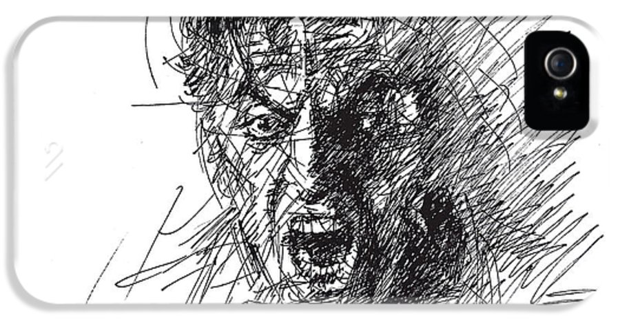 Al Pacino IPhone 5 Case featuring the drawing Al Pacino by Ylli Haruni