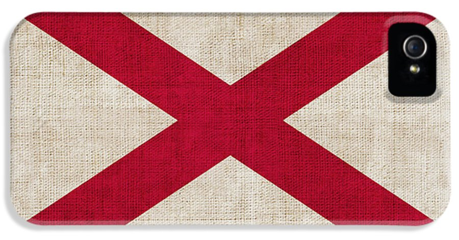 Alabama IPhone 5 Case featuring the painting Alabama State Flag by Pixel Chimp