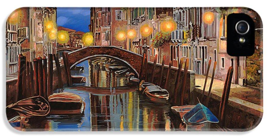 Venice IPhone 5 Case featuring the painting alba a Venezia by Guido Borelli
