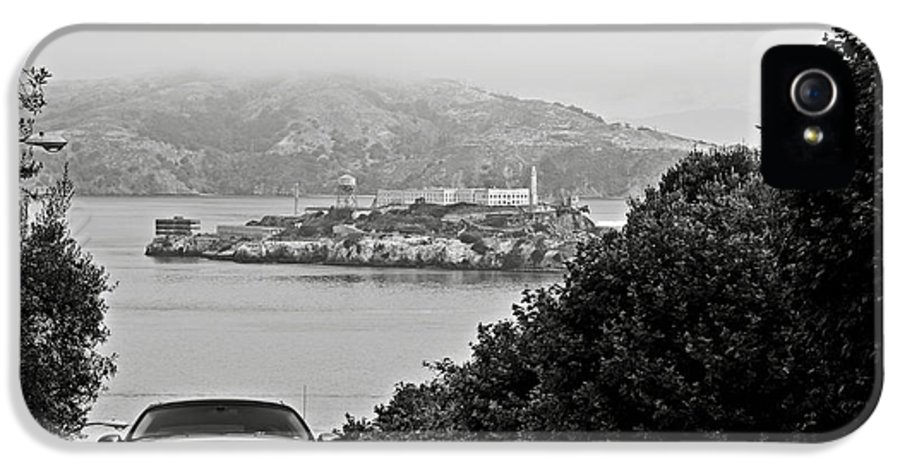 Alcatraz IPhone 5 Case featuring the photograph Alcatraz Island From Hyde Street In San Francisco by RicardMN Photography