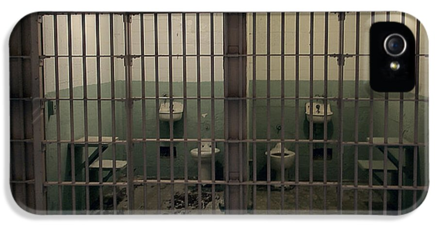 Alcatraz IPhone 5 Case featuring the photograph Alcatraz Side-by-side Cells by Daniel Hagerman