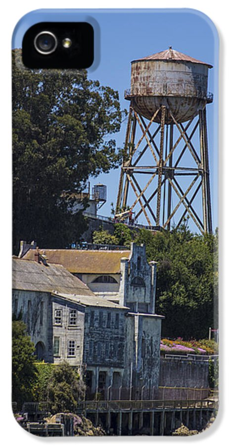 Alcatraz IPhone 5 Case featuring the photograph Alcatraz Water Tower by John McGraw
