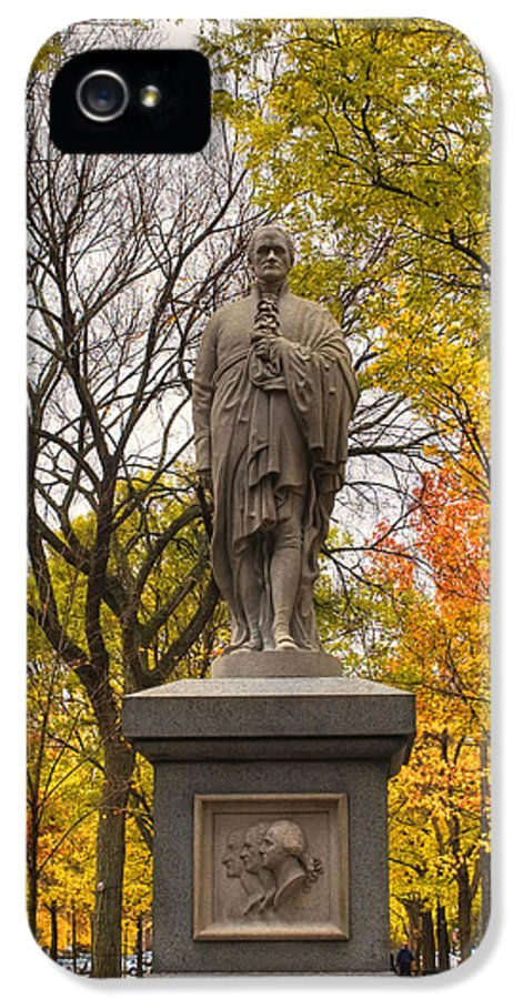 Boston IPhone 5 Case featuring the photograph Alexander Hamilton Statue by Joann Vitali