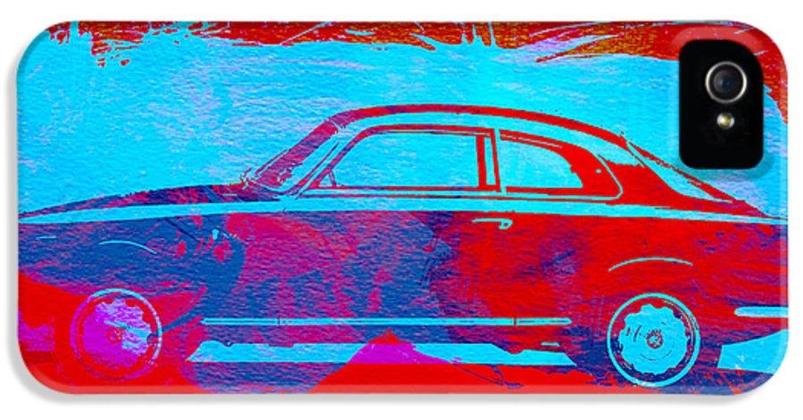 Alfa Romeo Gtv IPhone 5 Case featuring the painting Alfa Romeo Watercolor 1 by Naxart Studio