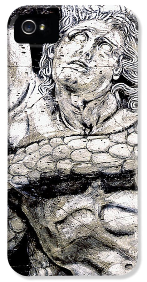 Mythology IPhone 5 Case featuring the painting Alkyoneus - Detail No. 1 by Steve Bogdanoff