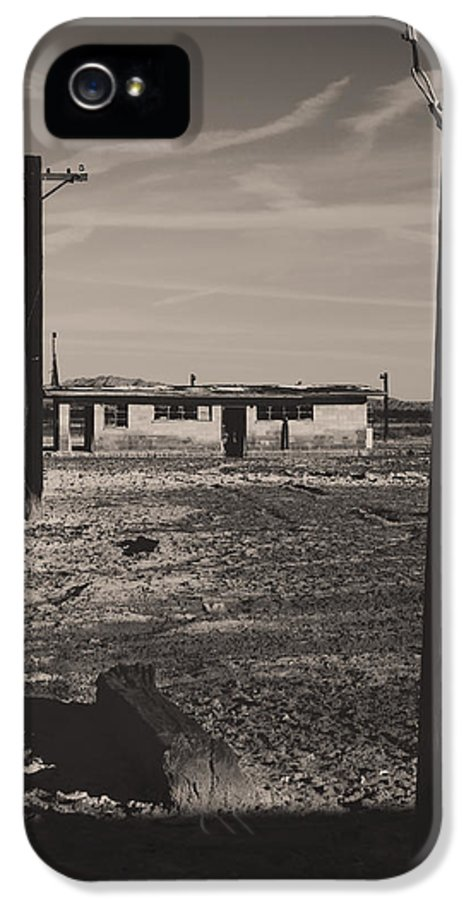 Telephone Poles IPhone 5 / 5s Case featuring the photograph All That's Left Of Us by Laurie Search