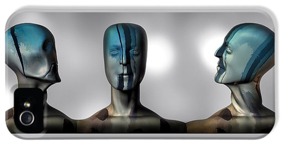 Man IPhone 5 Case featuring the digital art Almost Man In The Middle by Bob Orsillo