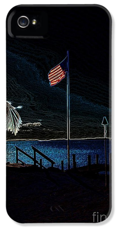 Flag IPhone 5 Case featuring the photograph America All The Way 8 by Rene Triay Photography