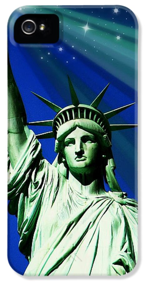 Statue Of Liberty IPhone 5 Case featuring the photograph America by Diana Angstadt
