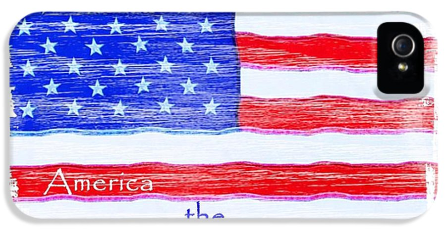 Usa IPhone 5 Case featuring the photograph America The Beautiful by Robert ONeil