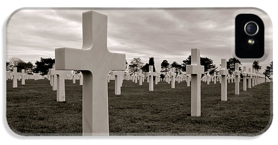 France IPhone 5 Case featuring the photograph American Cemetery In Normandy by Olivier Le Queinec