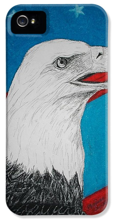 Eagle IPhone 5 Case featuring the mixed media American Eagle by Maricay Smeenk