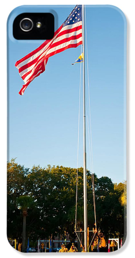4th IPhone 5 Case featuring the photograph American Flag by Alex Grichenko