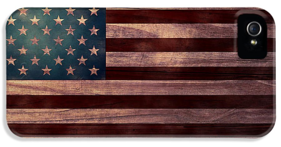 American Flag IPhone 5 Case featuring the digital art American Flag I by April Moen