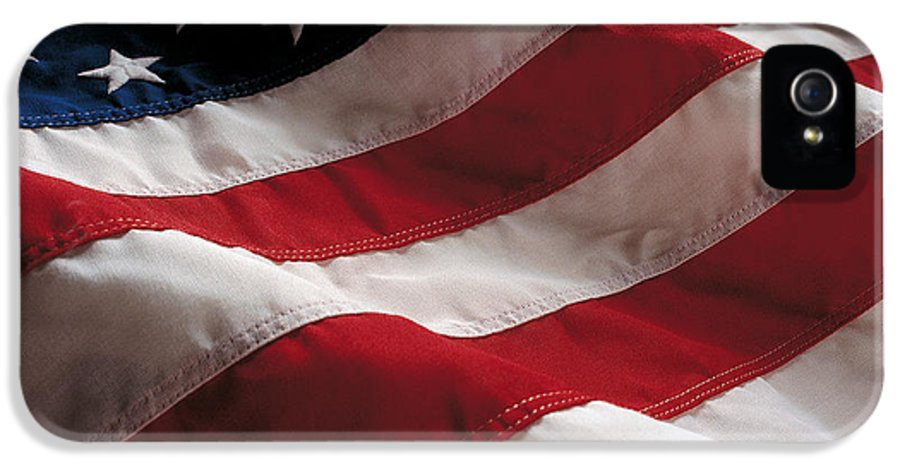 Old Glory IPhone 5 Case featuring the photograph American Flag by Jon Neidert