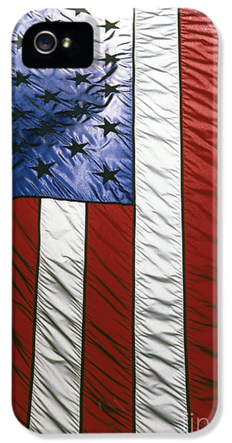 American IPhone 5 Case featuring the photograph American Flag by Tony Cordoza