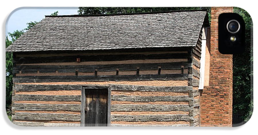 America IPhone 5 Case featuring the photograph American Log Cabin by Frank Romeo
