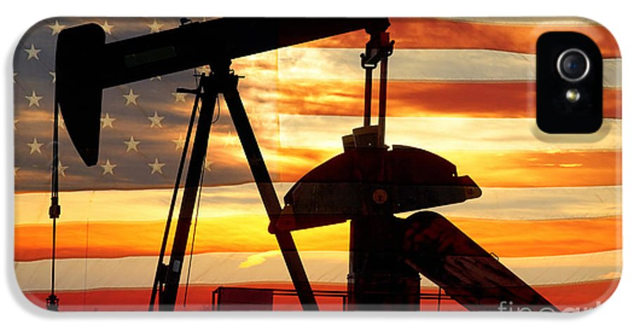 Oil IPhone 5 Case featuring the photograph American Oil by James BO Insogna