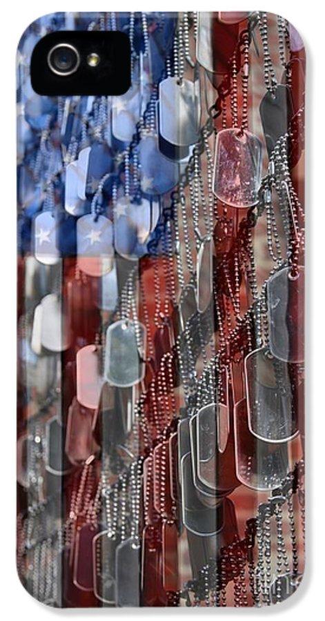 Patriotic IPhone 5 Case featuring the photograph American Sacrifice by DJ Florek