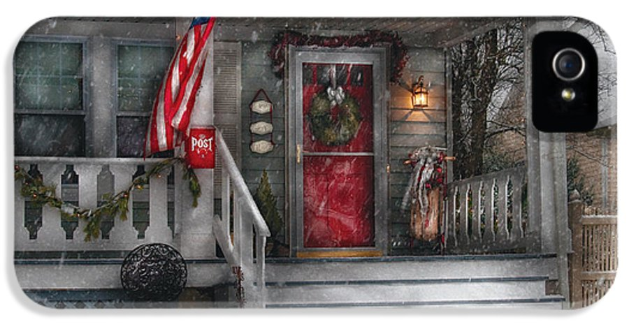 Savad IPhone 5 Case featuring the photograph Americana - A Tribute To Rockwell - Westfield Nj by Mike Savad