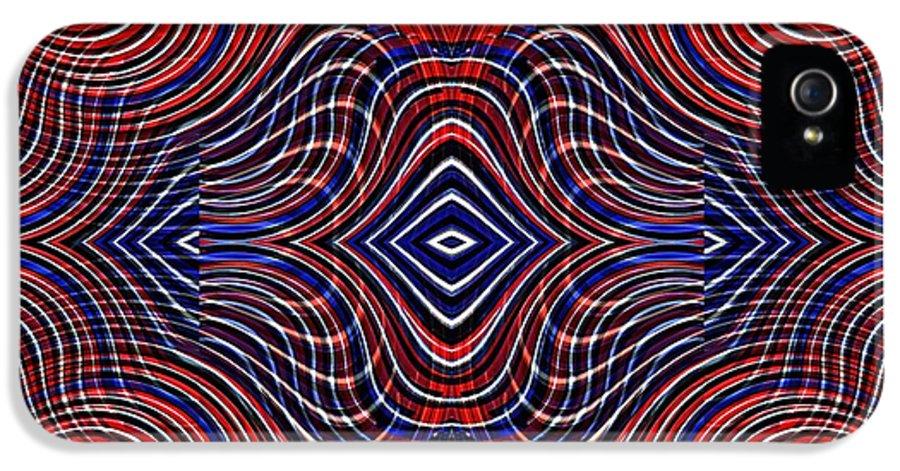 Swirl IPhone 5 Case featuring the digital art Americana Swirl Design 11 by Sarah Loft