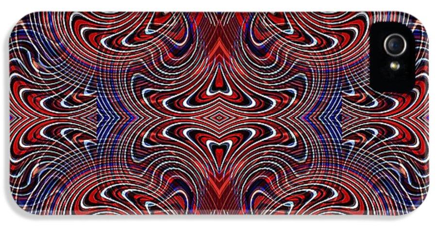 Swirl IPhone 5 Case featuring the digital art Americana Swirl Design 2 by Sarah Loft
