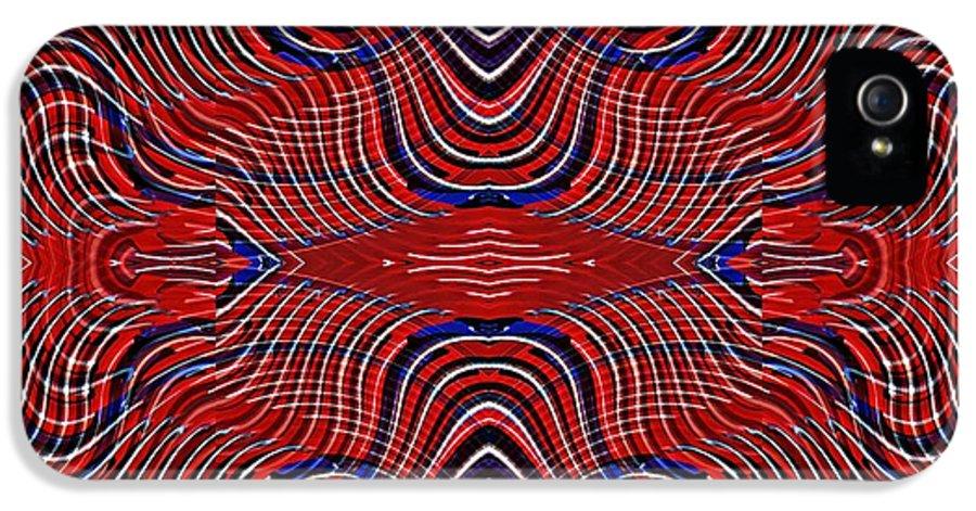 Swirl IPhone 5 Case featuring the digital art Americana Swirl Design 9 by Sarah Loft