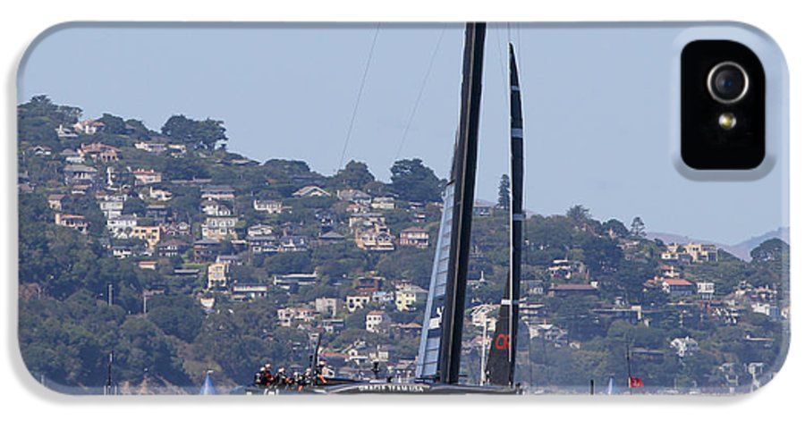 2013 IPhone 5 Case featuring the photograph America's Cup Oracle 2013 by Steven Lapkin