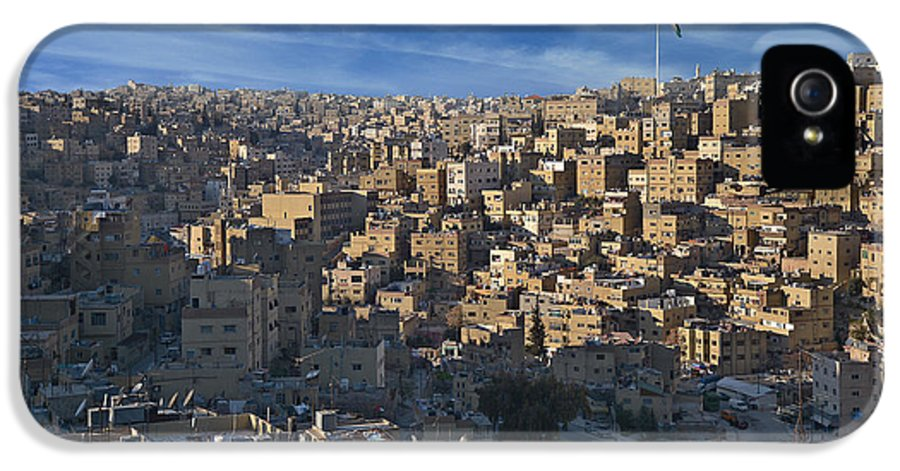 Amman IPhone 5 Case featuring the pyrography Amman Down Town by Luca Battistella