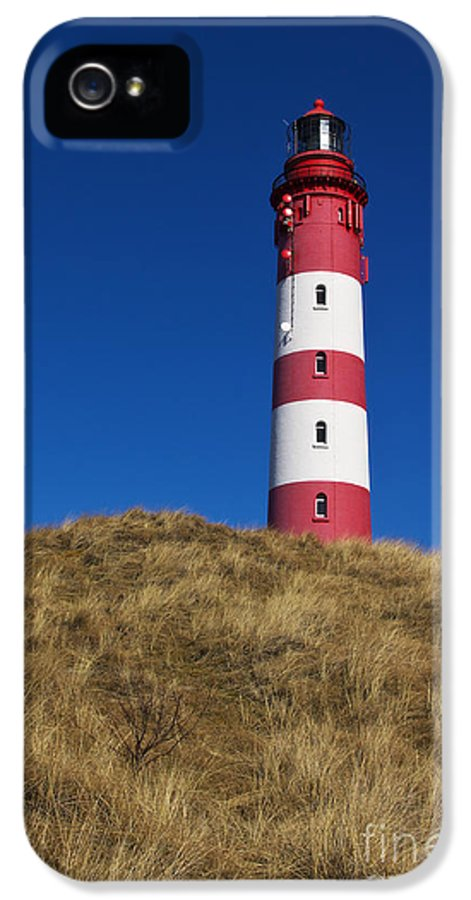 Amrum IPhone 5 Case featuring the photograph Amrum Lighthouse by Angela Doelling AD DESIGN Photo and PhotoArt