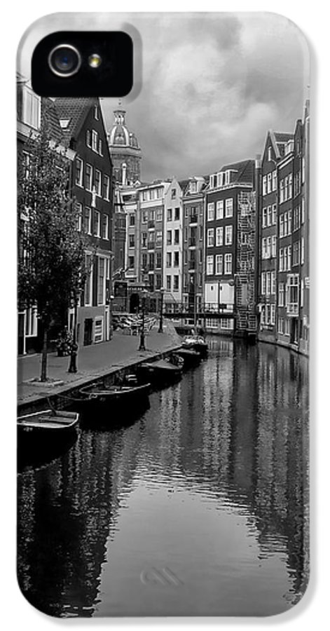 Amsterdam IPhone 5 Case featuring the photograph Amsterdam Canal by Heather Applegate