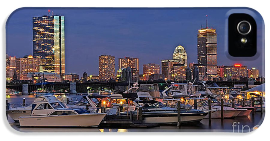 Charles River Yacht Club IPhone 5 Case featuring the photograph An Evening On The Charles by Joann Vitali
