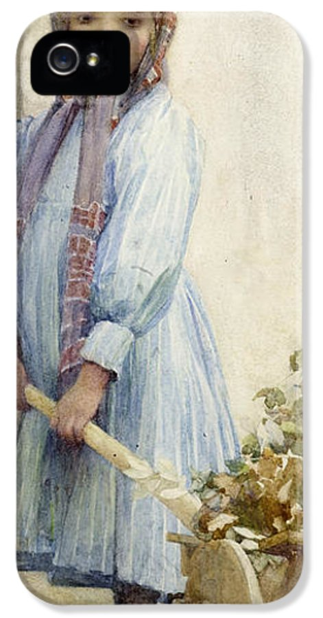 Italian IPhone 5 Case featuring the painting An Italian Peasant Girl by Ada M Shrimpton