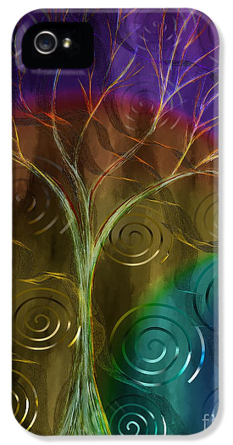 Abstract IPhone 5 Case featuring the painting An Ordinary Miracle by Sydne Archambault