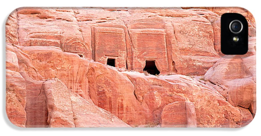 Ancient IPhone 5 Case featuring the photograph Ancient Buildings In Petra by Jane Rix