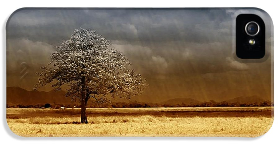 Landscapes IPhone 5 Case featuring the photograph And The Rains Came by Holly Kempe
