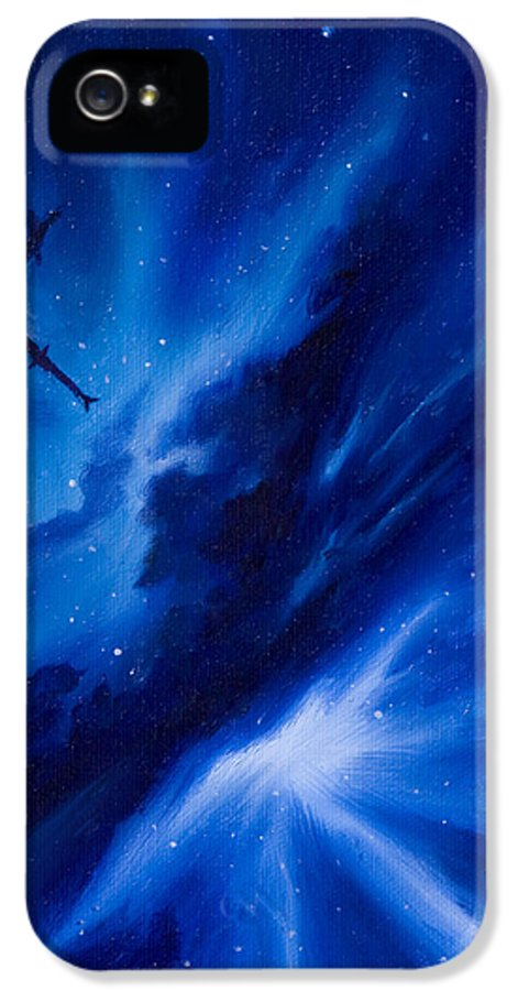Stars IPhone 5 Case featuring the painting Andreas Nebula by James Christopher Hill
